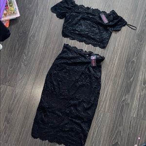 Lace Top and skirt set